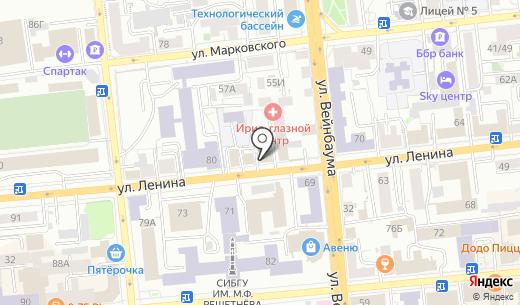 Альпака. Схема проезда в Красноярске