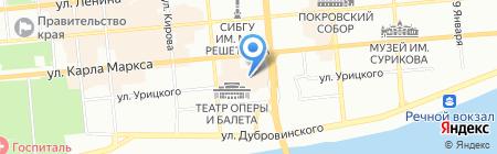 Гостиный двор 2001 на карте Красноярска