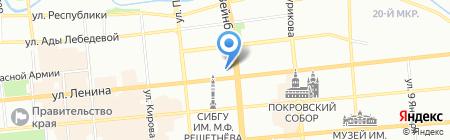 Триада на карте Красноярска