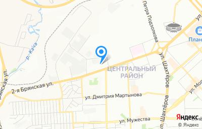 Местоположение на карте пункта техосмотра по адресу г Красноярск, ул Караульная, д 33