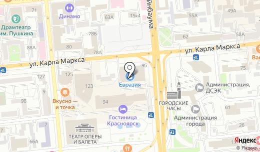 Банкомат АЛЬФА-БАНК. Схема проезда в Красноярске