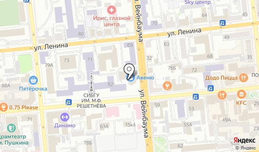 Инопроф. Схема проезда в Красноярске