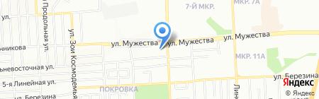Янтарь на карте Красноярска