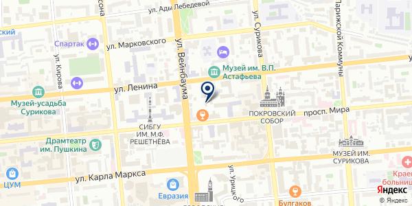 ИНЖЕНЕРНЫЙ ЦЕНТР ГЕОСЕТЬ-СИБИРЬ на карте Красноярске