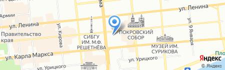 Типография на карте Красноярска