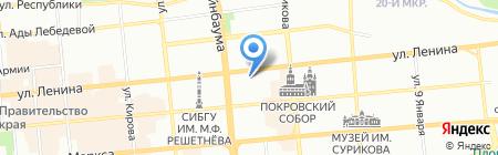 Клуб любителей массажа на карте Красноярска