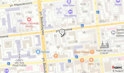 Клуб любителей массажа. Схема проезда в Красноярске