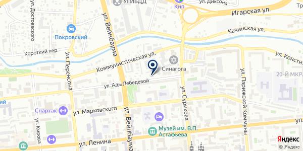 ТОРГОВАЯ КОМПАНИЯ ОГНЕБОРЕЦ на карте Красноярске