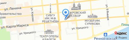 Управление Росприроднадзора по Красноярскому краю на карте Красноярска