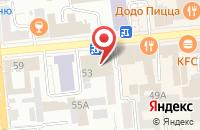 Схема проезда до компании Меридиан в Красноярске