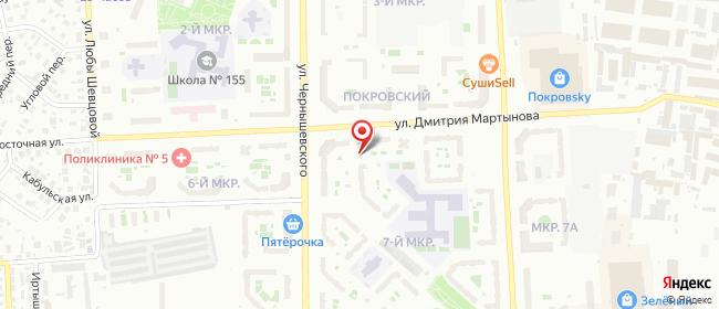 Карта расположения пункта доставки Красноярск Чернышевского в городе Красноярск