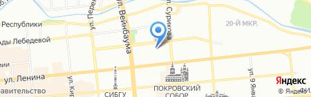 НДМ на карте Красноярска