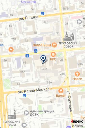 ПРОИЗВОДСТВЕННАЯ ФИРМА ЛИНИЯ РЕКЛАМЫ на карте Красноярска