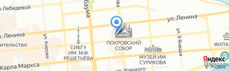 Фараон на карте Красноярска
