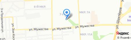 Любаша на карте Красноярска