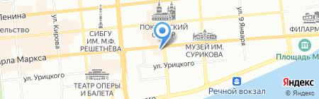 Музыкальная школа №1 на карте Красноярска