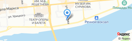Белая-Ергаки на карте Красноярска