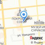 Чарли на карте Красноярска