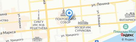 Покровская на карте Красноярска