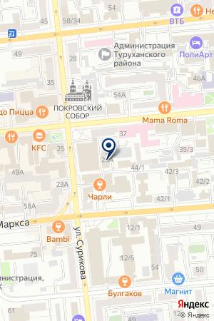 ТОРГОВАЯ ФИРМА КРАСНОЯРСКСНАБТОРГ на карте Красноярска