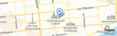 Калинка на карте Красноярска