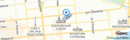 Харизма-Красноярск на карте Красноярска