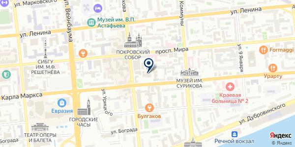 ОХРАННОЕ ПРЕДПРИЯТИЕ ФЕЛИКС на карте Красноярске