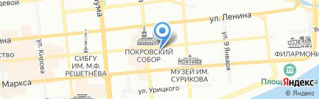 СИА на карте Красноярска