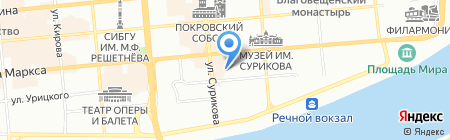 Rock Jazz Cafe на карте Красноярска