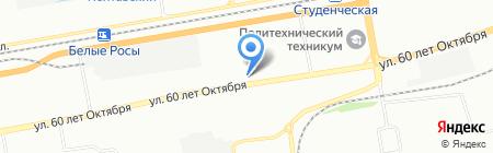 Росинка на карте Красноярска