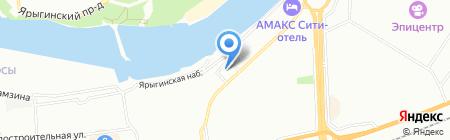 Вист на карте Красноярска