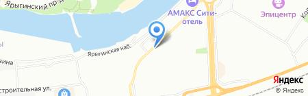 Матросская Тишина на карте Красноярска