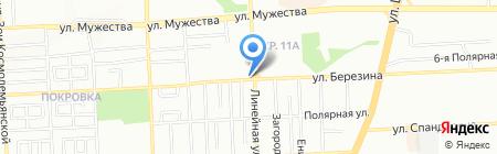 Автомен на карте Красноярска
