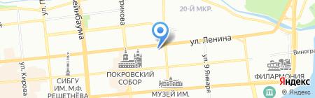 Ветом на карте Красноярска