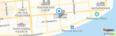 Магнолия на карте Красноярска