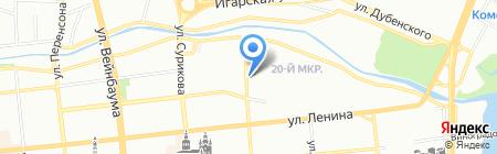 Виток на карте Красноярска