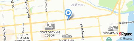 Авиакруиз на карте Красноярска