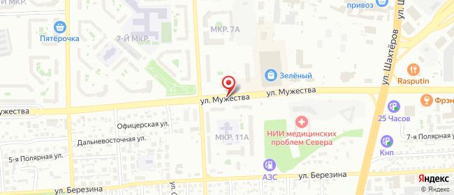 Карта расположения пункта доставки Ростелеком в городе Красноярск