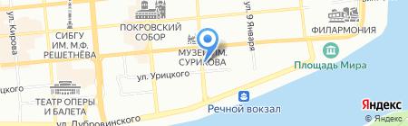 Любава на карте Красноярска