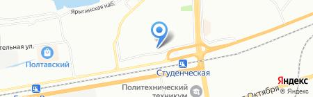 Универстрой на карте Красноярска