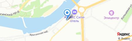 Ангерона на карте Красноярска