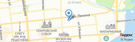 Кремлевский на карте Красноярска