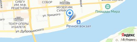 Магазин горящих путевок на карте Красноярска