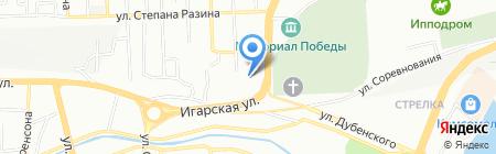 Средняя общеобразовательная школа №14 на карте Красноярска