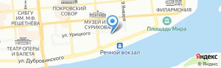 Сибинвестжилстрой на карте Красноярска