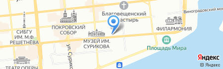 Банк Москва на карте Красноярска