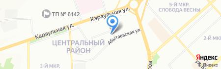 КРАСАЛ на карте Красноярска