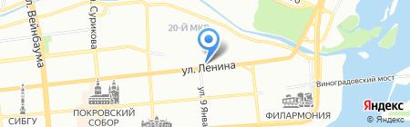 Авиаэкспресс на карте Красноярска