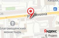 Схема проезда до компании Интерьер в Красноярске