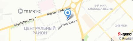 Портал на карте Красноярска